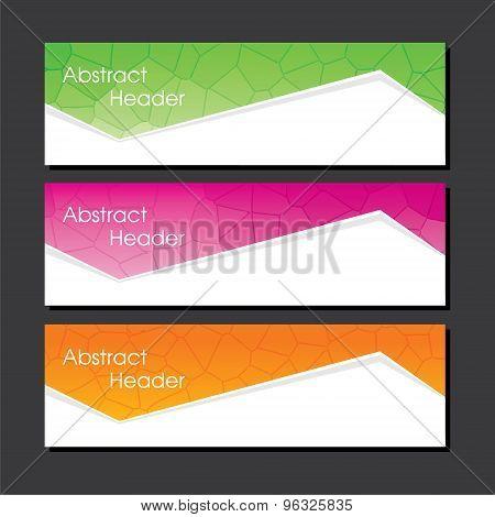 business website header design