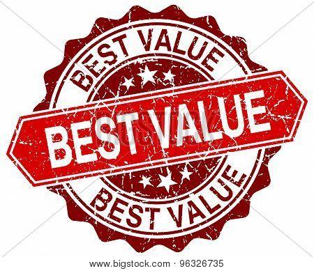 Best Value Red Round Grunge Stamp On White
