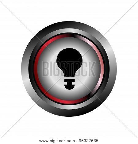 Light bulb sign button