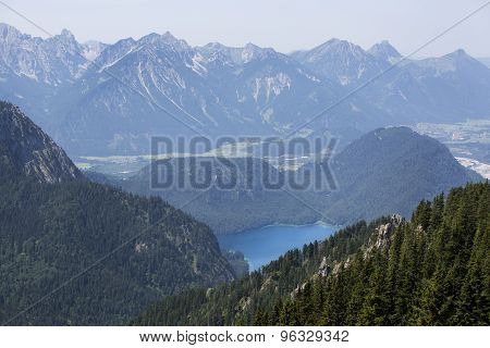 Bavarian Lake Alpsee From Above