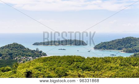 Landscape Andaman Sea And Koh Tapao Noi In Phuket, Thailand