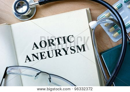 Aortic aneurysm concept.
