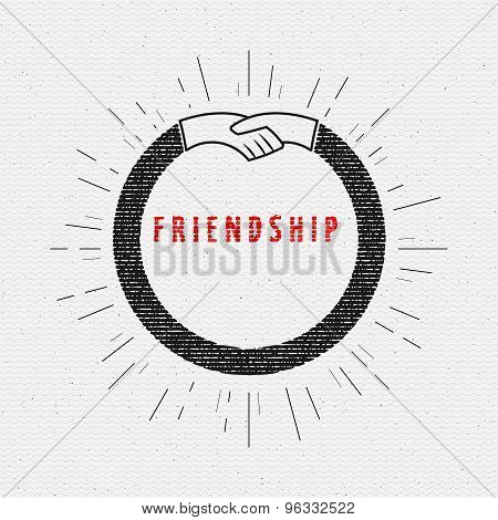 Friendship badges logos and labels for any use
