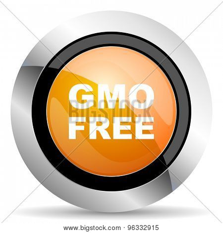 gmo free orange icon no gmo sign