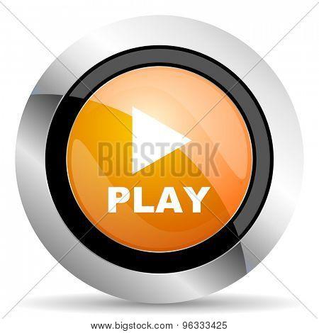 play orange icon