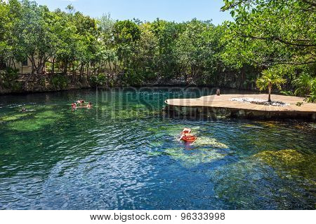 Cenote Swimming