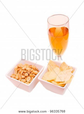 Drink and snacks