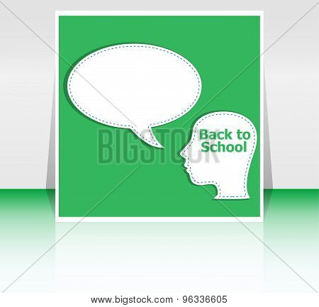 Back To School Colorful Icons Education Human Head, Education Concept