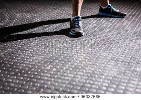 Sports shoes in crossfit gym