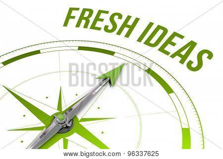 The word fresh ideas against compass