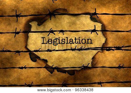 Legislation Concept Against Barbwire