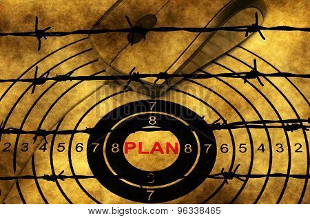 Plan Target Concept Against Barbwire