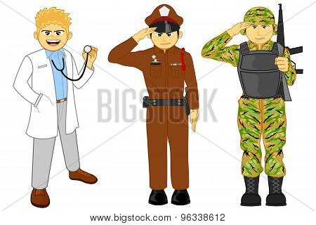 Doctor Police And Military Career