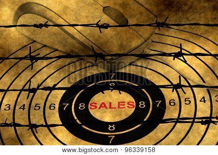 Web Sales Target Against Barbwire