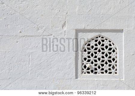 Detail Of A Wall Of A Temple In Pushkar, Rajasthan, India
