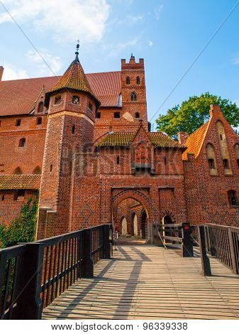 Bridge leading to High Castle in Malbork