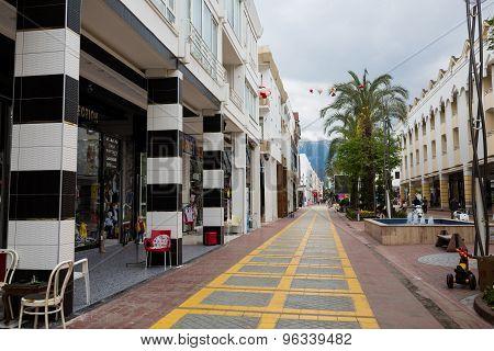 Pedestrian Street Of Kemer