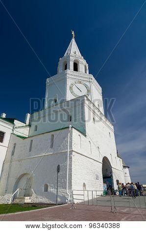 Spasskaya Tower Of The Kazan Kremlin. Unesco World Heritage Site
