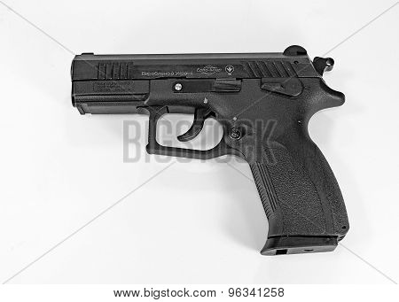handgun separated on white background