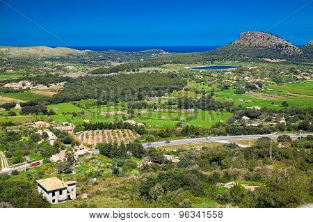 Valley At The North Part Of Majorca