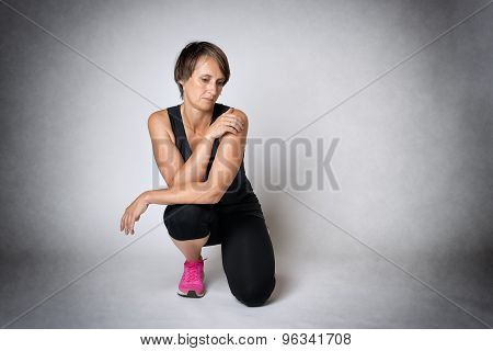 Middle Aged Thoughtful Woman