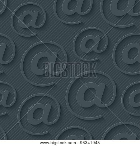 Dark gray e-mail wallpaper. 3d seamless background. Vector EPS10.