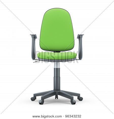 Green Office Chair Front View