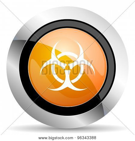 biohazard orange icon virus sign