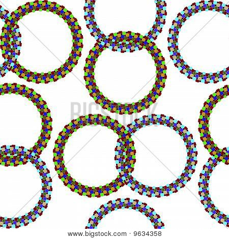 rings seamless pattern