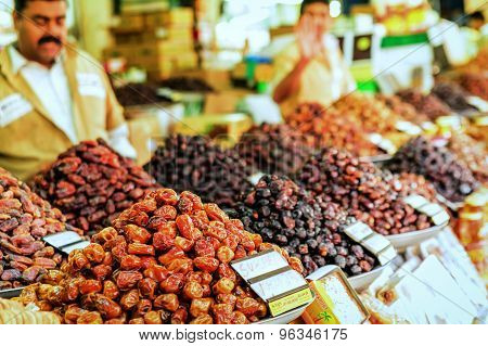 Dry Dates And Other Dry Fruit In The Market In Dubai