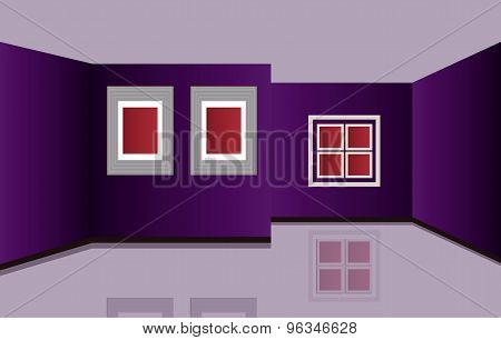 Indoor or inside of a house. Vector included.