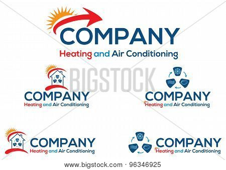 Air conditioning business logo or icon, vector file easy to edit.