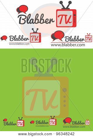 Chating tv or television logo for website or your video channel