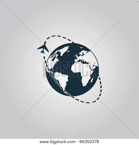 Air travel destination icon