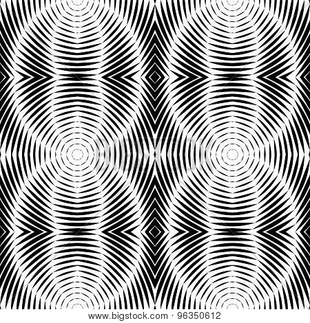 Design Seamless Striped Ellipse Pattern