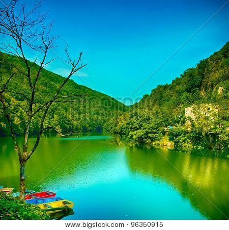 Lake Hamori in Lillafured, Hungary