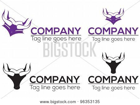 Horn graduation icon and logo design. Vector file include.