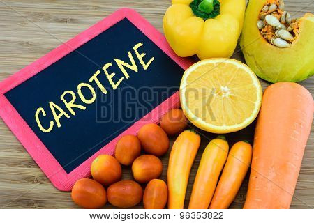 Carotene In Orange Color Fruits And Vegetables