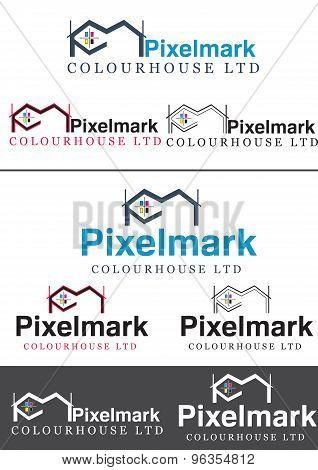CMYK Pixelmark Printing house company Logo