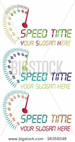 Speed time logo. vector file fully editable.