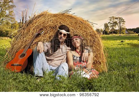 Hippie Couple Outdoors
