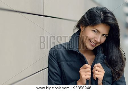 Smiling Attractive Urban Woman