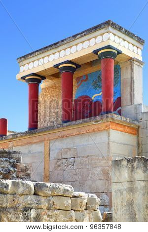 Ruins of The Knossos Palace, Crete, Greece
