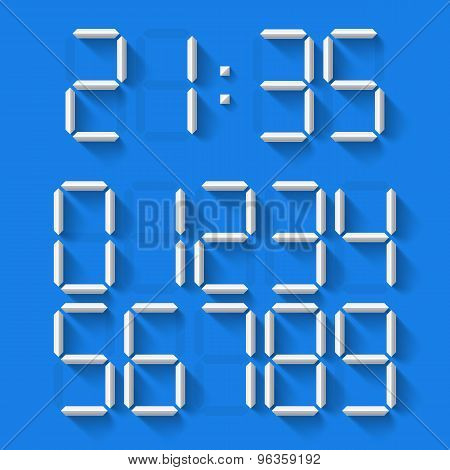 Digital Clock Numbers