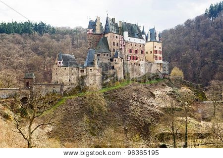 Eltz Castle, A Medieval Castle Located In Germany