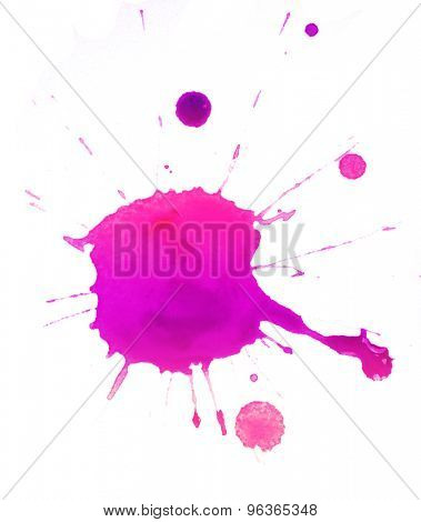 Colorful splashes of paint isolated on white