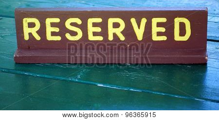 Reserved sign.
