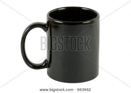 Black Coffee Mug Alpha