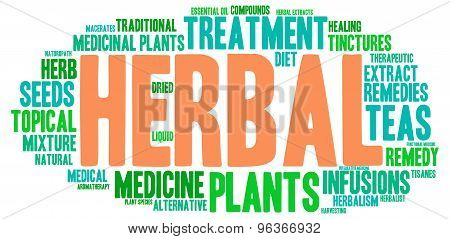 Herbal Word Cloud