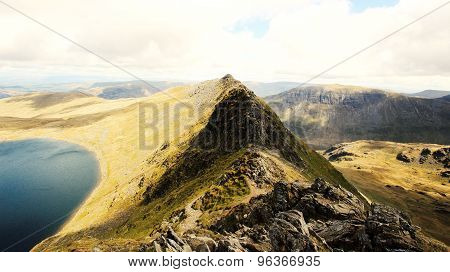 Striding Edge In The Lake District